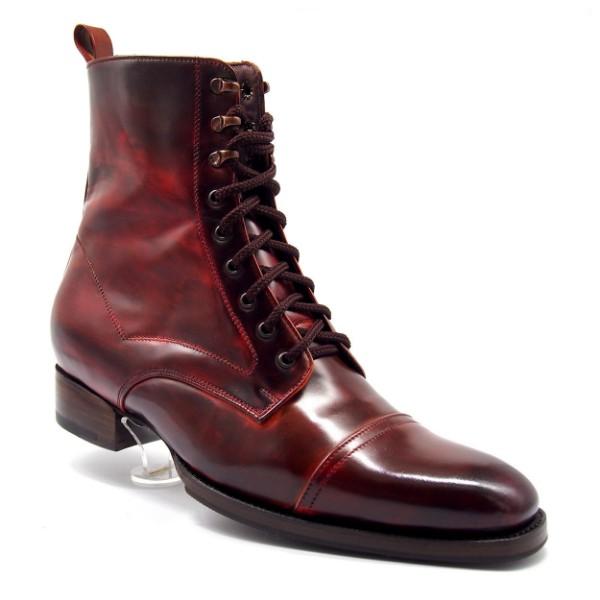 Dark Red, Leather