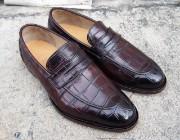 Burnished Brown, Crocodile Leather