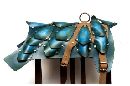 Image de Patina Leather Dog Armor