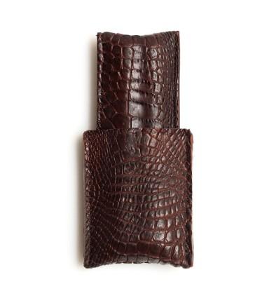 Image de étui à cigares en cuir 1/1 marron croco