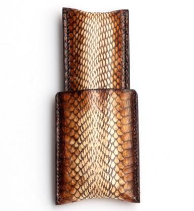 Image de étui à cigares en cuir 1/1 lézard léger