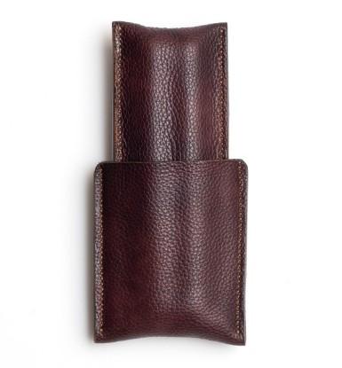 Image de étui à cigares en cuir 1/1 brun fraisé