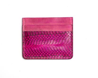 Image de Porte-cartes en cuir rose 1/1