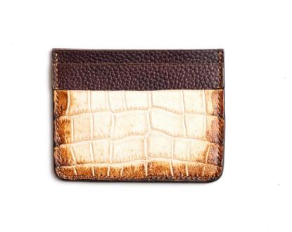 Image de Portefeuille de carte de crédit en cuir himalayen 1/1