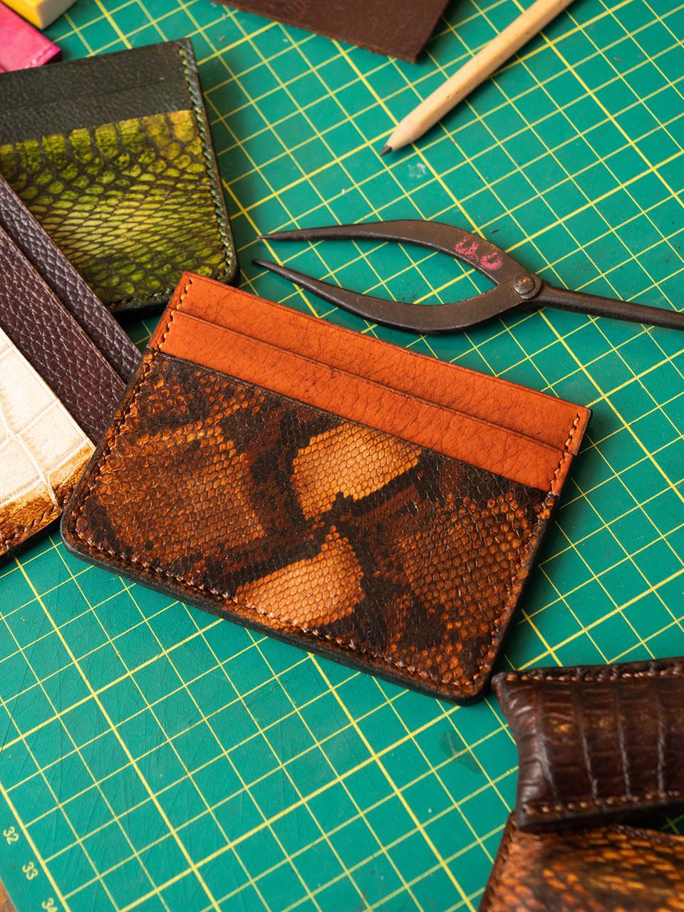Bild von Orange Leather Credit Card Wallet 1/1
