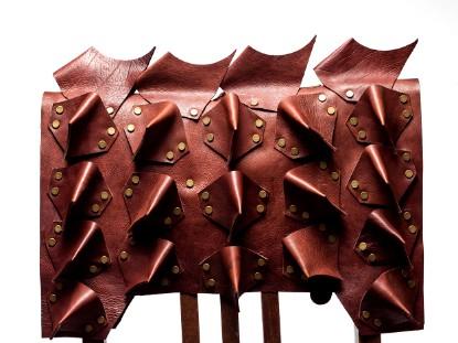 Leather Dog Armor Brown Calf の画像